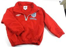 Childs Umbro Nationwide England Soccer 1/4 Zip Mesh Liner Windbreaker 2-3 years