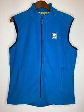 Sperry Top Sider STS 35 Mens Size Large Full Zip Fleece Vest Light Blue