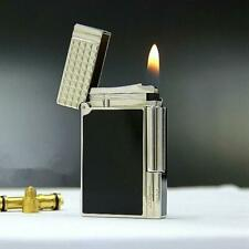 For Memorial S.T.Dupont Cigarette Lighter Brushed Metal Gas *HIGH Quality COPY*