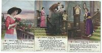 "BAMFORTH - ""IF I COULD TURN THE CLOCK BACK A YEAR"" Set Song Card Postcards  5022"