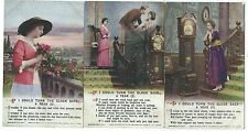 """BAMFORTH - """"IF I COULD TURN THE CLOCK BACK A YEAR"""" Set Song Card Postcards  5022"""