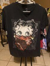 Betty Boop 🔥 Cartoon Black Size Small T Shirt