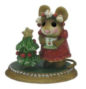 Wee Forest Folk Missy Loves Santa Red