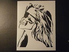 "Skull Woman Zombie Lady 8.5"" x 11"" Stencil FAST FREE SHIPPING"