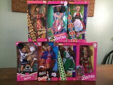 Lot Of 7 Special Edition Barbie Dolls