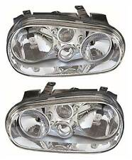 VW Golf Mk4 1998-2004 Chrome Front Headlight Headlamp Pair Left & Right