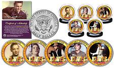 ELVIS PRESLEY *Life & Times * JFK Half Dollar U.S 5-Coin Set OFFICIALLY LICENSED