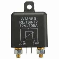 12V 100Amp 4-Pin Heavy Duty ON/OFF Switch Relay For Auto Boat Van Black D2K3