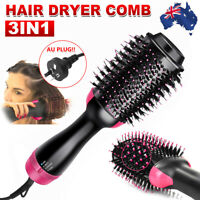 3 in 1 Pro Salon One-Step Hair Dryer and Volumizer Oval Brush Straightener Comb