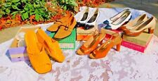 Six Pair Ladies Vintage 1960's / 70's Pumps / Shoes In Boxes Most Size 7 N 7.5