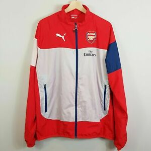 ARSENAL Football Club Puma Mens Size L Leisure Jacket