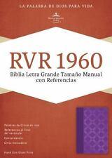 RVR 1960 Biblia Letra Grande Tamaoo Manual con Referencias, violeta con plateado