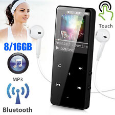 8/16GB Bluetooth Touch MP3 Player MP4 Media Radio Recorder Sport Music Speakers