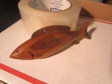 DICK DON TRUDELL  ICE  FISHING SPEARING DECOY CONTEMPORARY XMAS ORNAMENT 1991 A6