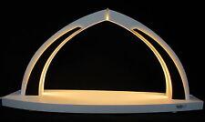 LED Schwibbogen klein white line modern wood Bogen leer Leerbogen Erzgebirge