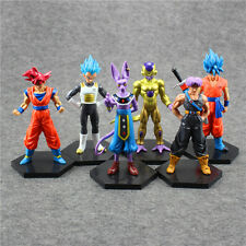 6pcs Dragon Ball Vegeta Beerus Son Goku Frieza Super Saiyan Figure Set Figurine