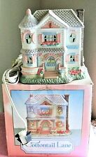 1991 Midwest Cannon Falls ~ Easter Cottontail Lane Victorian House + Elec. Cord