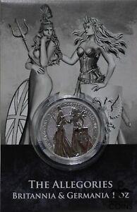 2019 Germania Mint 5 Mark .9999 Fine Silver 1oz Round The Allegories w/ COA