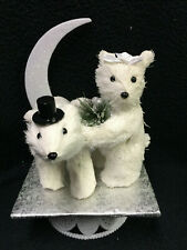 Polar Bears Nature cubs Winter Wedding Cake Topper groom top Anniversary Shower