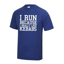 I Run Because I Really Like Kebabs T Shirt Running Sports Jc001 Xs-5Xl Workout