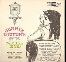"MICHEL DENS ""CHANTS D'AMOUR"" 60'S LP STEREO PATHE CPTA 353"
