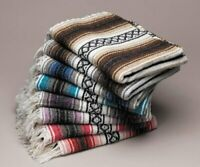 Genuine Falsa Mexican Blanket Hand Woven Serape Throw Yoga Wholesale Bulk Packs