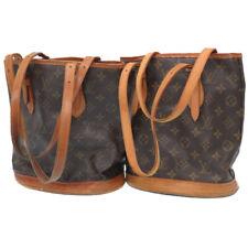 2item set LOUIS VUITTON Monogram Bucket PM Hand Bag Backet LV Q0856IPB5