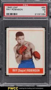 1948 Leaf Boxing Sugar Ray Robinson ROOKIE RC #64 PSA 3 VG