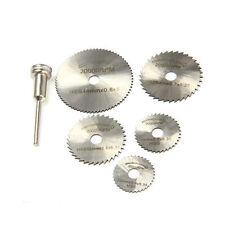 6PCS HSS Circular Saw Rotary Blades Tool Cutting Discs Mandrel For Dremel Cutoff