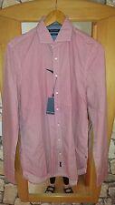Hemd / Freizeithemd Langarm Marc O'Polo Gr. L rot-weiß SHAPED FIT