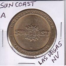 Casino Dollar Token Chip Coin Gambling - Sun Coast - Las Vegas, Nevada