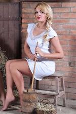 Damen-Nachtwäsche im Negligés-Stil aus Baumwolle mit Nachthemden