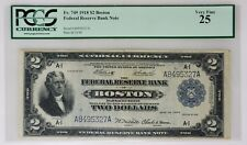 1918 $2 U.S. Federal Reserve Bank Note Graded PCGS Very Fine 25 Battleship Note