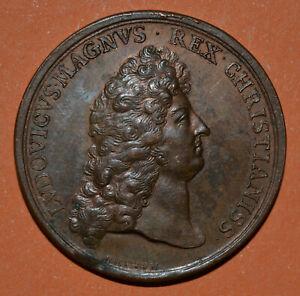 Médaille LOUIS XIV Magnus 1687 château Versailles Versalie par BRETON Lvdovicvs
