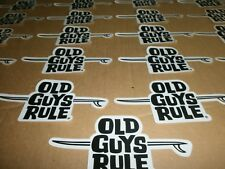 25 OLD GUYS RULE SURF SURFING SURFBOARD LONGBOARD FIN  BEACH QUALITY STICKERS