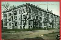 FORT WAYNE FT INDIANA IN HIGH SCHOOL 1909  POSTCARD