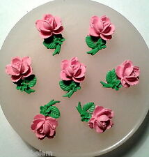 Tiny Roses SET of 7- silicone mould - food use, resin, fimo, clay etc -  mold