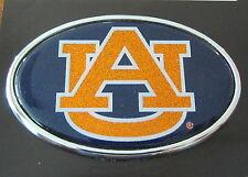 Auburn University AU Blue Orange GLITTER METAL AUTO EMBLEM Tigers girl car decal