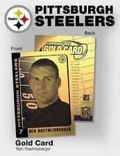 BEN ROETHLISBERGER 2004 Laser Line Gold Card Limited Edition NFL Steelers BOGO