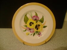 HAND PAINTED DECORATIVE PLATE OF PANSIES