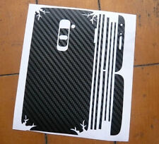 2 X Black Carbon Fibre Skin Sticker Full Body Wrap for LG Optimus G2 / G II