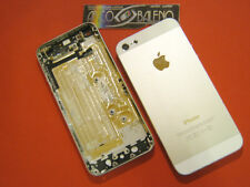 COVER RICAMBIO ORIGINALE APPLE PER IPHONE 5 A1429 BIANCO+FLEX PULSANTE ACCENSION