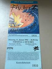 FISCHER Z.  1994  MÜNCHEN     ++  ORIGINAL CONCERT - KONZERT - Ticket