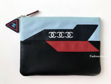 16S CHANEL AIRWAYS BLACK BLUE RED CLUTCH BAG POUCH O-CASE