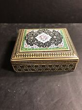 Persian Wooden Inlaid ( Micromosaic ) Box/ Marquetry / Circa 1950/ Jewelry Box