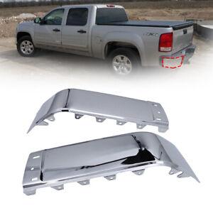 Rear Bumper End Caps fit 07-13 Chevy silverado & GMC Sierra 1500/2500HD/3500HD