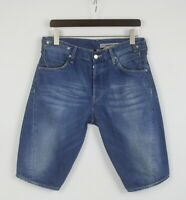 LEVI'S ENGINEERED JEANS Men's MEDIUM Fade Effect Blue Denim Shorts 25797-JS