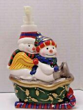 "Christmas Soap Dispenser Allure 2002 Snowman Cerami 7"" Tall"