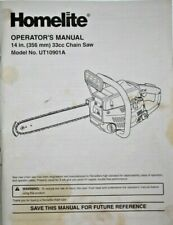 Homelite Chainsaw UT10901A Operator's MANUAL, Used, 35 pages, 8.5 x11 paperback