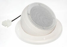 """Adjustable Angle 3"""" Home RV Theater White Satellite Speaker - Ceiling Wall Mount"""